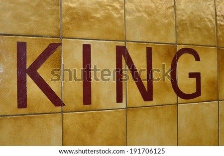 King sign - stock photo