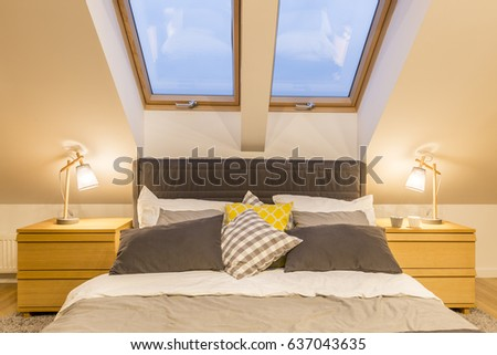 Bedroom In The Attic attic room stock images, royalty-free images & vectors | shutterstock