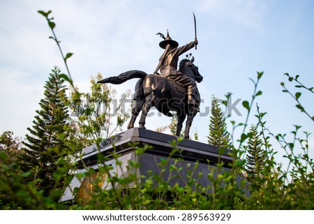 King Taksin the Great Monument - stock photo