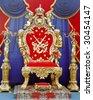 king  throne - stock photo