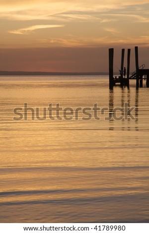 Kingfisher Bay Jetty 2 - stock photo