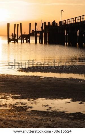Kingfisher Bay jetty I - stock photo