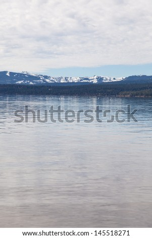 Kings Beach State Recreation Area features 700 feet of beautiful frontage property along the North Shore of Lake Tahoe. - stock photo