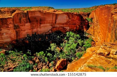 Kings canyon - Australia - stock photo