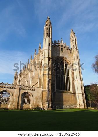 Kings college chapel , University of Cambridge - stock photo