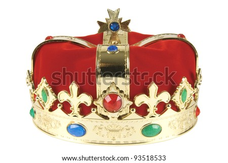 Kings crown on white background, clipping path included