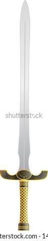 kings sword. raster variant - stock photo