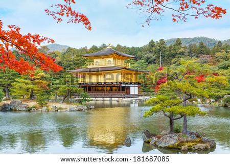 Kinkaku-ji Temple in Kyoto - stock photo