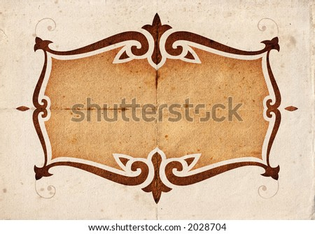 Kinzie - floral background on a detailed paper texture. Vertical version - file no. 2041109 - stock photo