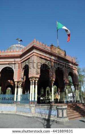 Kiosco Morisco de Santa María la Ribera, Mexico City - stock photo