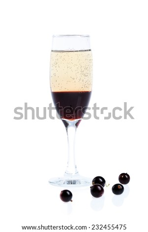Kir Royal cocktail - stock photo