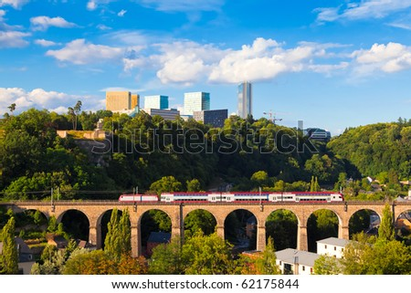 Kirchberg - a quarter in north-eastern Luxembourg City home to various European Union institutions - stock photo