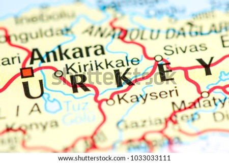 Kirikkale Turkey On Map Stock Photo Royalty Free Royalty Free