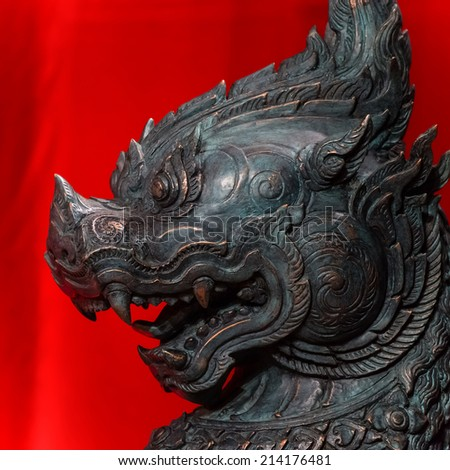 Kirin - Mythical hooved creature known in Chinese and east Asian cultures  - stock photo