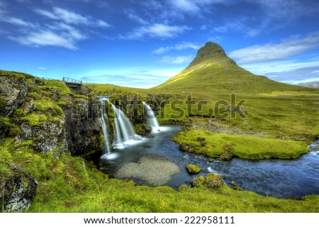 Kirkjufell mountain,Iceland  - stock photo