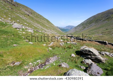 Kirkstone Pass in the Lake District, Cumbria - stock photo