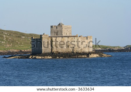 Kisimul Castle in Castlebay Island of Barra Scotland