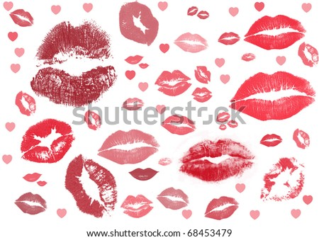 kiss kiss kiss - stock photo