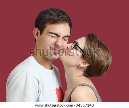 kiss me - stock photo