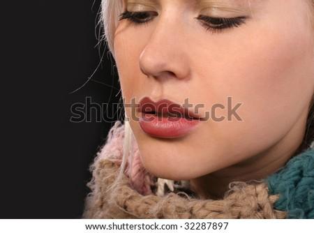 Kissable Lips - stock photo