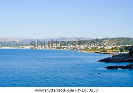 Kissamos (Kastelli) town on Crete - Greece - stock photo