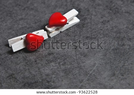 kissing clamps - stock photo
