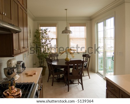 Kitchen and breakfast nook - stock photo