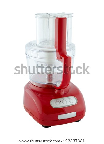 Kitchen appliances - food processor, isolated on a white background - stock photo