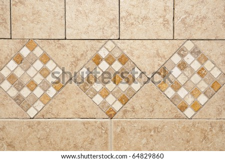 Kitchen back-splash. Stone tiles pattern and abstract background - stock photo