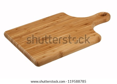 Kitchen board on white background - stock photo