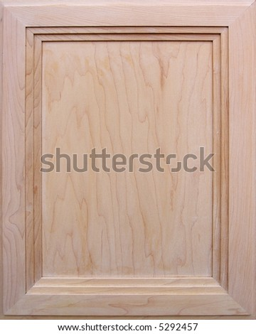 Kitchen cabinet door - wooden background