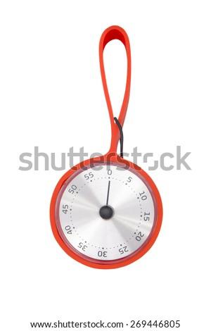 kitchen clock isolated on white background - stock photo