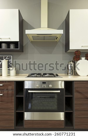 Kitchen - cooking area - stock photo