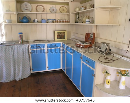 Kitchen cooking area from 1960's Australia. - stock photo
