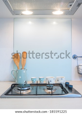 Kitchen , counter of stove cooking.  - stock photo