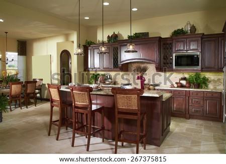 Kitchen Design Home Interior - stock photo