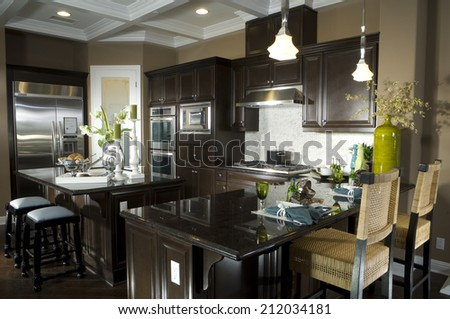 Kitchen Dining Room Architecture Stock Images,Photos of Living room, Bathroom,Kitchen,Bed room, Office, Interior photography. Architectural Photos by Frank Short - stock photo