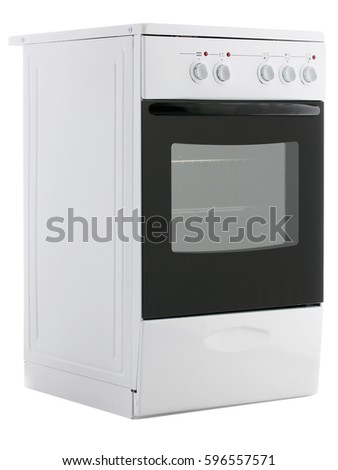 kitchen electric stove on a white background
