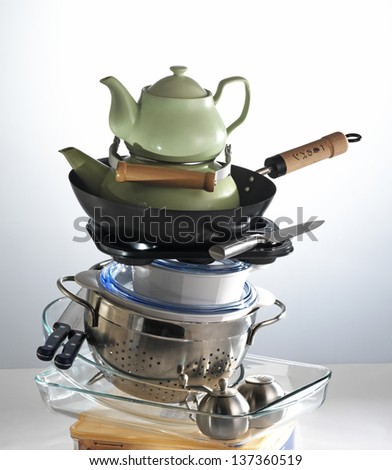 kitchen equipments - stock photo