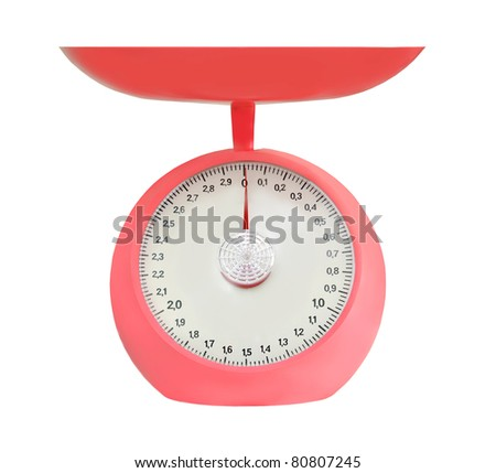 Kitchen food scale isolated on white background