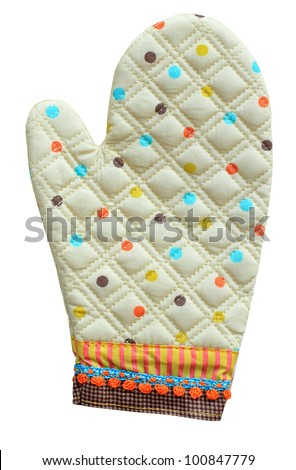 Kitchen glove on a white background
