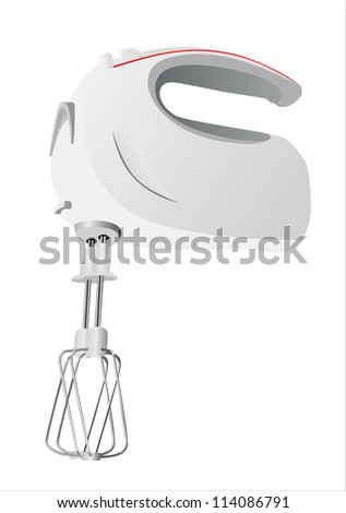 Kitchen hand mixer - stock photo