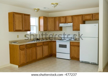 Kitchen in a Newly Built House
