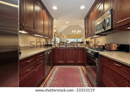 Kitchen in condominium