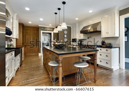 kitchen centre islands kitchen modern home large center island stock photo 12988