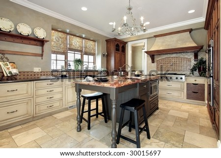 tiles for kitchen countertops kitchen center island stock photo 35428054 6214