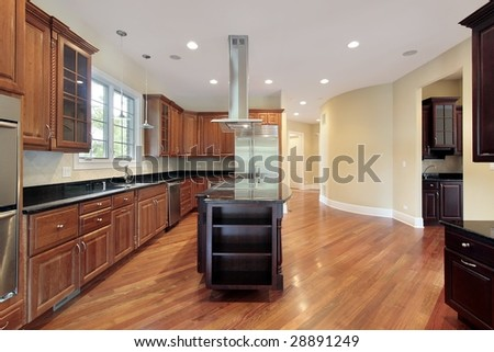 Kitchen in new construction house
