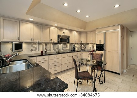 Kitchen in suburban townhouse