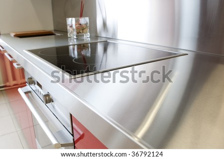 Kitchen interior - close up - stock photo