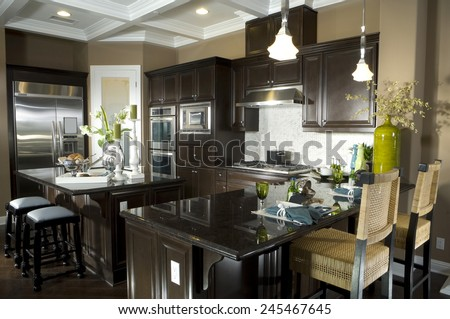 Kitchen Interior Design Architecture Stock Images,Photos of Living room, Bathroom,Kitchen,Bed room, Office, Interior photography.  - stock photo